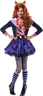 Monster High Clawdeen Wolf Halloween Costume Deluxe for Girls, Medium, with Included Accessories, by Amscan