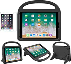 iPad 9.7 2018/2017 / Air 1/2 / Pro 9.7 Case for Kids - SUPLIK Duable Shockproof Protective Handle Bumper Stand Cover with Screen Protector for iPad 9.7 inch 5th/6th Generation, Black