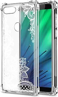 Oihxse Cristal Compatible con Samsung Galaxy A20E/A10E Funda Transparente TPU Silicona Estuche Airbag Esquinas Anti-Choque Anti Rasguños Diseño Rosa Flower Caso (Flores B3)