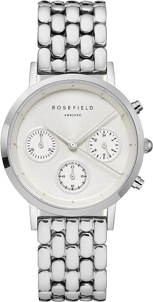 Rosefield the gabby, orologio da donna, cronografo, in ottone e cinturino in acciaio inossidabile NWG-N92