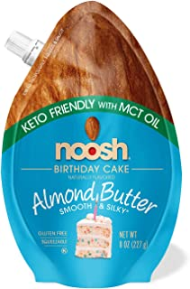 NOOSH Keto Almond Butter (Birthday, 8 Fl. Oz) - All Natural, Vegan, Gluten Free, Soy Free - Ketogenic and Low Carb Friendly