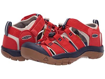 Keen Kids Newport H2 (Little Kid/Big Kid) (Fiery Red/Blue Depths) Kids Shoes