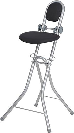 Ribelli Bügelstehhilfe Stehhilfe Stehstuhl 6-Fach höhenverstellbar klappbar Bügelstuhl Stehsitz ergonomisches Sitzen – Stehsitz zum Bügeln mit…