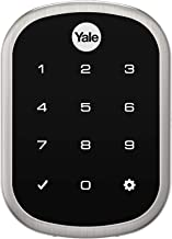 Yale Assure Lock SL, Connected by August - Wi-Fi/Bluetooth Key Free Touchscreen Keypad Deadbolt - Works with August App, Amazon Alexa, Google Assistant, HomeKit, Airbnb and More - Satin Nickel