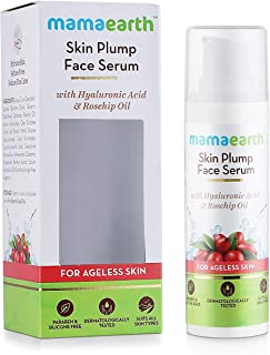 MAMAEARTH Skin Plump Serum For Face Glow With Hyaluronic Acid & Rosehip Oil, 30 Ml