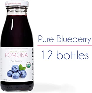 Pomona Organic Juices Pure Juice, Blueberry, 8.4 Ounce Bottle (Pack of 12)