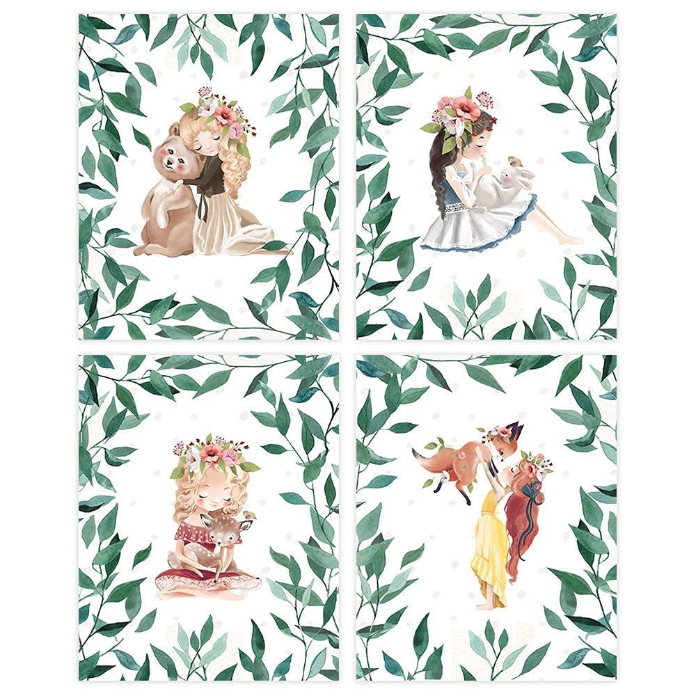 Woodland Girls Art Credence Prints Set Unframed 8x10s of - Al sold out. 4