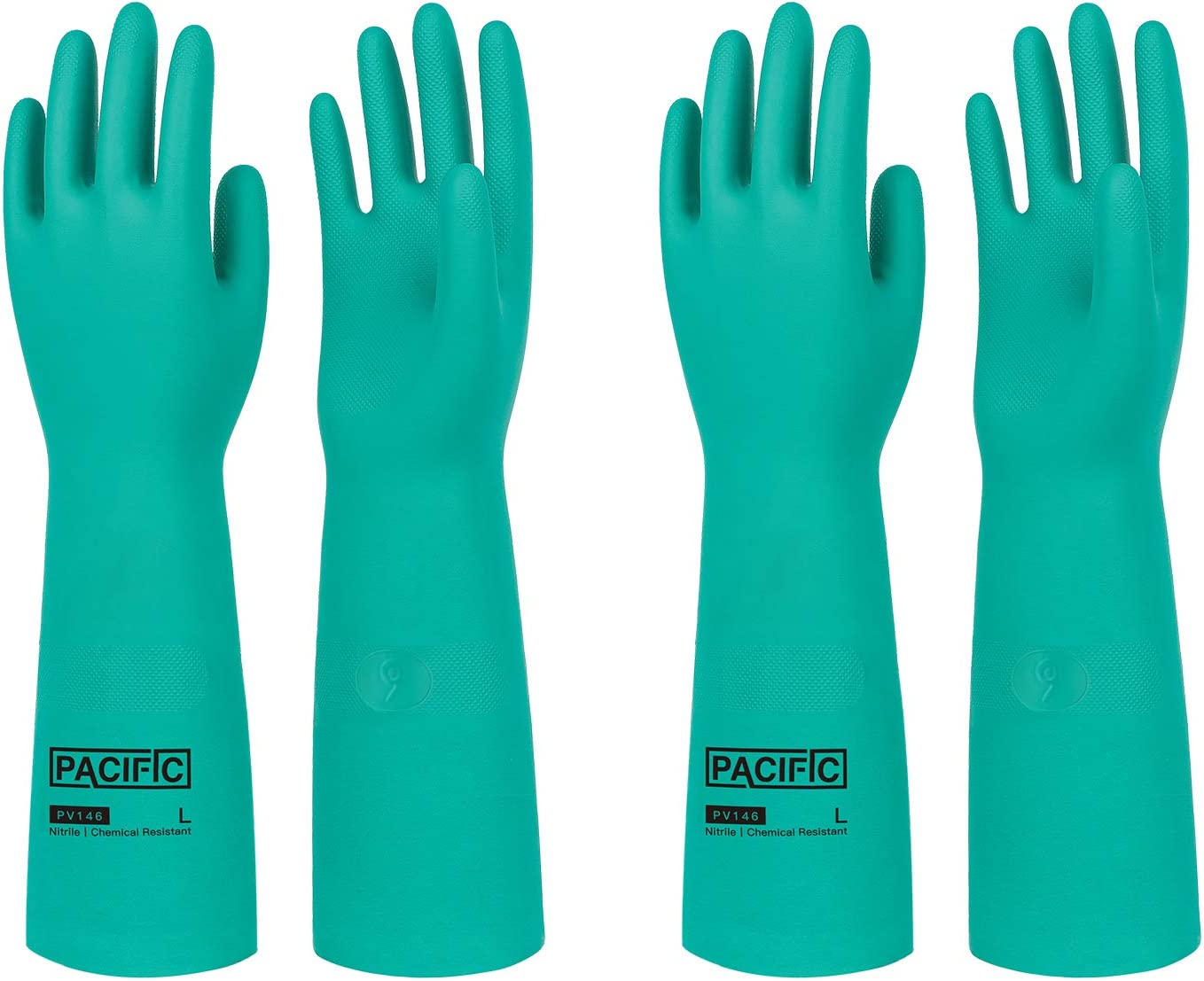 PACIFIC PPE 2 Pairs Chemical Gloves Superior Resistant Ho Nitrile trust Resist