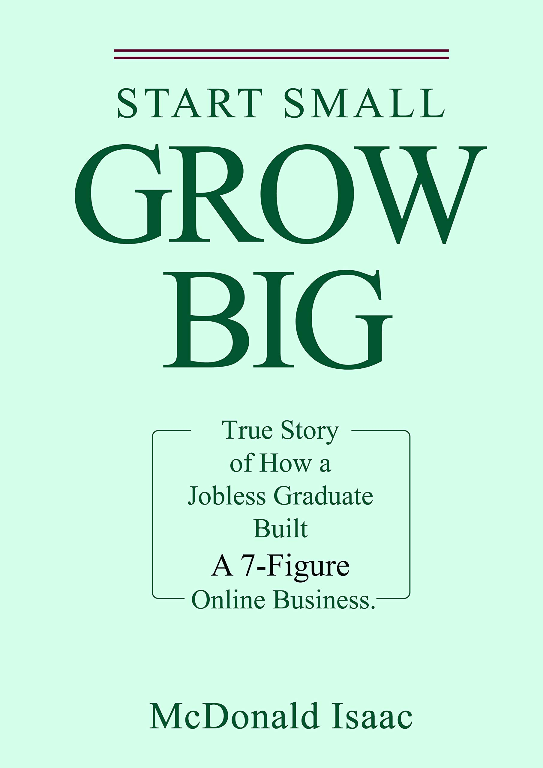 Start Small-Grow Big : True Story Of How A Jobless Graduate Built A 7-Figure Online Business