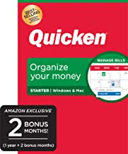 Quicken Starter Personal Finance - Take Control of Your Money - 14-Month Subscription [Amazon Exclusive] [PC/Mac Disc]