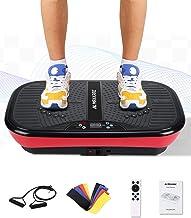 MaxKare Vibration Plate Platform Machine-Whole Body Fitness Vibration Massage Workout | 2 Loop+5 Resistance Bands | 3 Vibr...