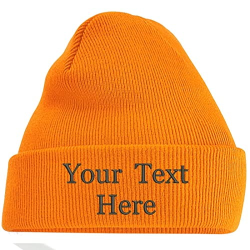 e4f6ddb5 Adults Personalised Embroidered Any Name Cuffed Knitted Beanie/Hat