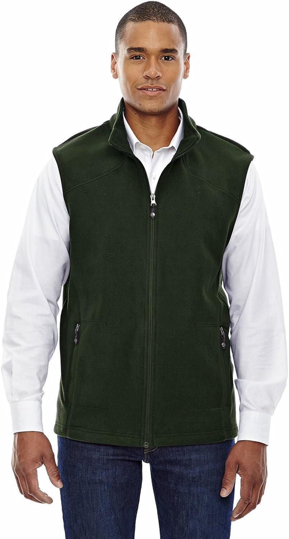 North End Mens Fleece Vest. 88173 - Large - Forest