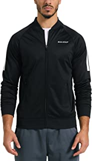 BALEAF Men's Active Fleece Track Jacket Running Training Basic Outerwear