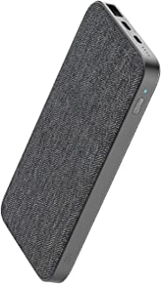 ZMI PowerPack 10000mAh USB-C Fabric Power Bank USB PD Compatible with iPhone 11/11 Pro/11 Pro Max/X/XS/XS Max/XR, Pixel 1/2/3/3a/XL, Samsung Galaxy. Supports USB 2.0 Adapter Mode, Low Power Charging