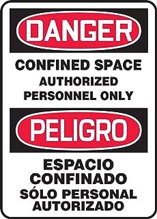 Accuform SBMCSP141VS Adhesive Vinyl Spanish Bilingual Sign, Legend