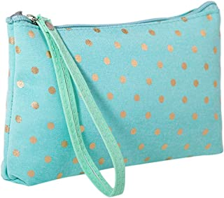 LANGMAN Makeup Bag, Cotton Linen Large Capacity Bag Multifunction Print Travel Cosmetic Bag Change Bag