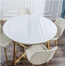 PVC tafelkleed, tafelfolie transparant, doorzichtige tafelbeschermer, rond, transparante beschermfolie tafelbescherming(Co...