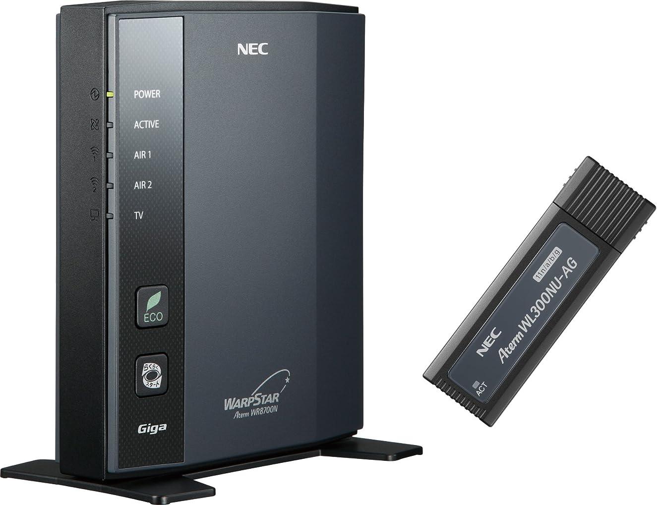 音楽ガイドライン衣類NEC Aterm WR8700N(HPモデル) USBスティックセット PA-WR8700N-HP/NU