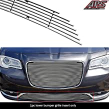APS Compatible with 2015-2020 Chrysler 300C 300S Without Cruise Control Bumper Billet Grille Insert N19-A97366R