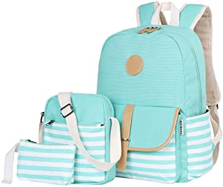 Canvas Bookbags School Backpack Laptop Schoolbag for Teens Girls High School
