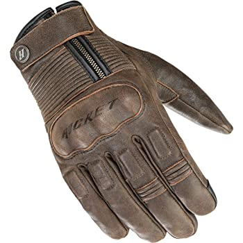 Cortech Mens Duster Leather Motorcycle Gloves Black, Medium