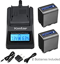 Kastar Fast Charger and Battery 1-Pack for Sony NP-QM91D NP-FM50 NP-QM71 NP-FM70 NP-FM90 & CCD-TRV328 338 DCR-DVD300 301 DCR-HC14 DCR-PC105 330E TRV22 TRV24 TRV25 DCR-TRV70 DCR-TR80 DCR-TR250