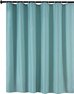 Biscaynebay Fabric Shower Curtain Liner Water Resistant Bathroom Liners 72 by 72 Inch Teal/Duck Egg