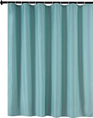 Biscaynebay Fabric Shower Curtain Liners Water Resistant Bathroom Curtain Liners, Teal 72 by 72 Inches
