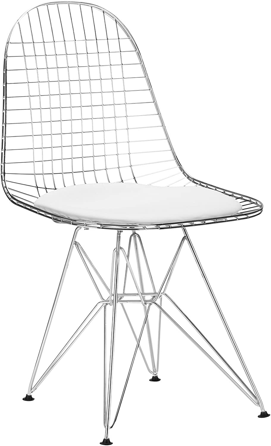 Poly and Bark Eames Eiffel DKR Style Wire Chair, White