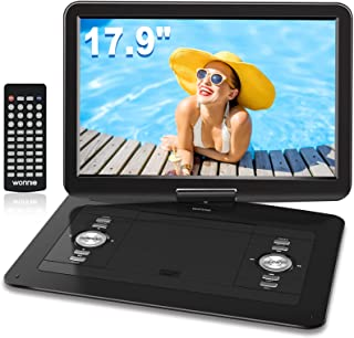 """WONNIE 17.9"""" Portable DVD/CD Player with 15.4"""" Large Swivel Screen, 1366x768 HD LCD TFT, Built-in 6 Hrs 5000mAH Rechargeab..."""