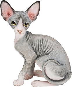 "Estatua Pintada a Mano con Gato Esfinge 4.1"""
