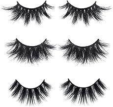 Mikiwi Mink Lashes, 3D Mink Eyelashes, Fluffy Long 3D Eyelashes, Thick HandMade Full Strip Lashes, Cruelty Free, Luxury Ma...