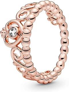 Pandora Jewelry - Princess Tiara Crown Ring for Women in Pandora Rose with Clear Cubic Zirconia