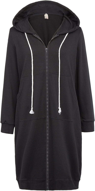GRACE KARIN Women's Store Casual Pockets Hoodies up Zip Sweatshi gift Tunic