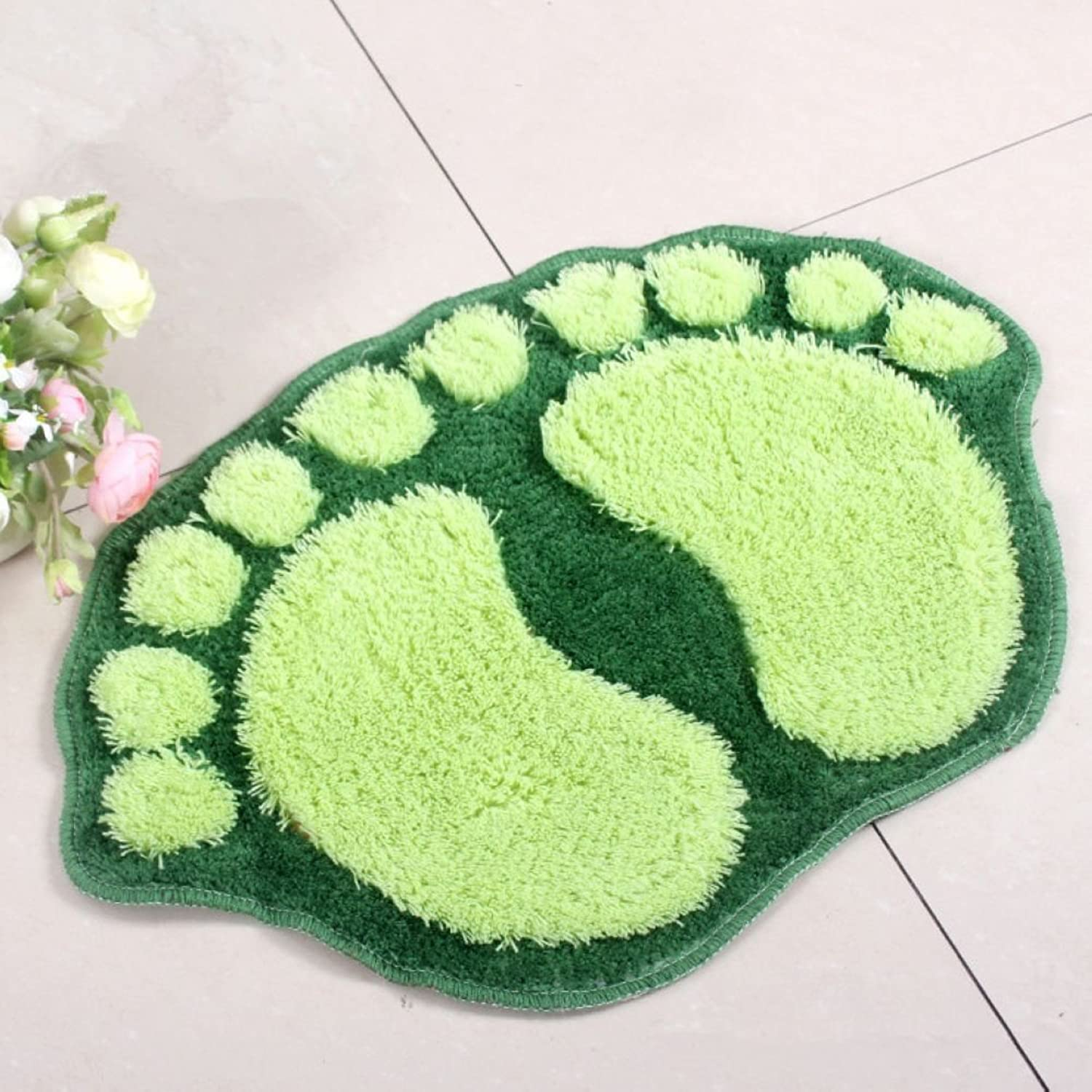 Judy Dre am Big Feet Mats Doormat The Bathroom Floor Mat Bedroom Rugs Green 20WideX31.5Long(Inch)