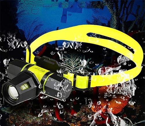 Lampe De Poche Led Zoom Phare De Plongée Sous-Marin Professionnel Forte Lumière Rechargeable portable Torche étanche Attraper Poisson Poisson