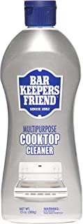 Bar Keepers Friend Multipurpose Cooktop Cleaner (13 oz) - Liquid Stovetop Cleanser - Safe for Use on Glass Ceramic Cooking Surfaces, Copper, Brass, Chrome, and Stainless Steel and Porcelain Sinks