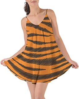 Rainbow Rules Tigger Stripes Winnie The Pooh Inspired Beach Cover Up Dress