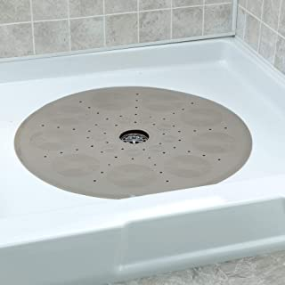 SlipX Solutions Tan Round Shower Stall Mat Provides Generous Coverage & Reliable Slip-Resistance (23