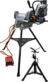 Reconditioned RIDGID 300 Power Drive 41855 and Steel Dragon Tools 918 Roll Groover 48297 for 2in. to 12in. Pipe