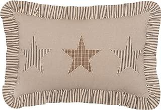 VHC Brands Farmhouse Decor Sawyer Mill Star Pillow, Tan