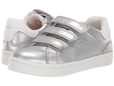 Geox Kids Djrock Girl 21 (Little Kid) (Silver) Girl