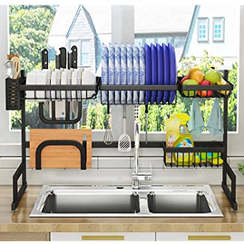 ADBIU 2-Tier Over The Sink Dish Drying Rack