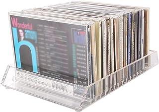 FACAZ Caja de CD de acrílico Transparente para Escritorio, Caja de Almacenamiento de Discos de la casa de Libros para el h...