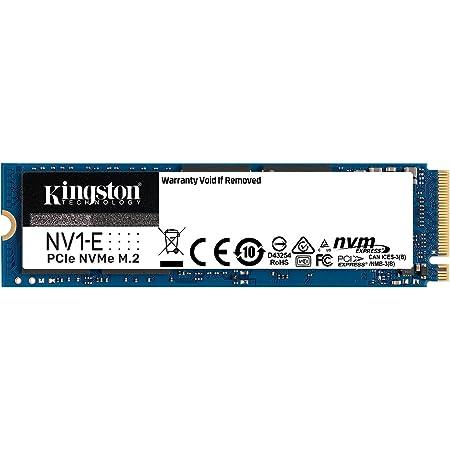 キングストンテクノロジー Kingston SSD NV1-E 500GB M.2 2280 NVMe PCIe 3.0×4 SNVSE/500G 正規代理店保証品 3年保証