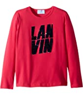 Lanvin Kids - Long Sleeve Sequin Logo T-Shirt (Little Kids/Big Kids)