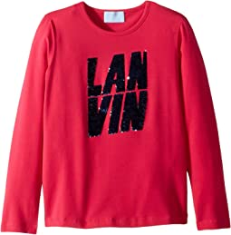 Long Sleeve Sequin Logo T-Shirt (Little Kids/Big Kids)