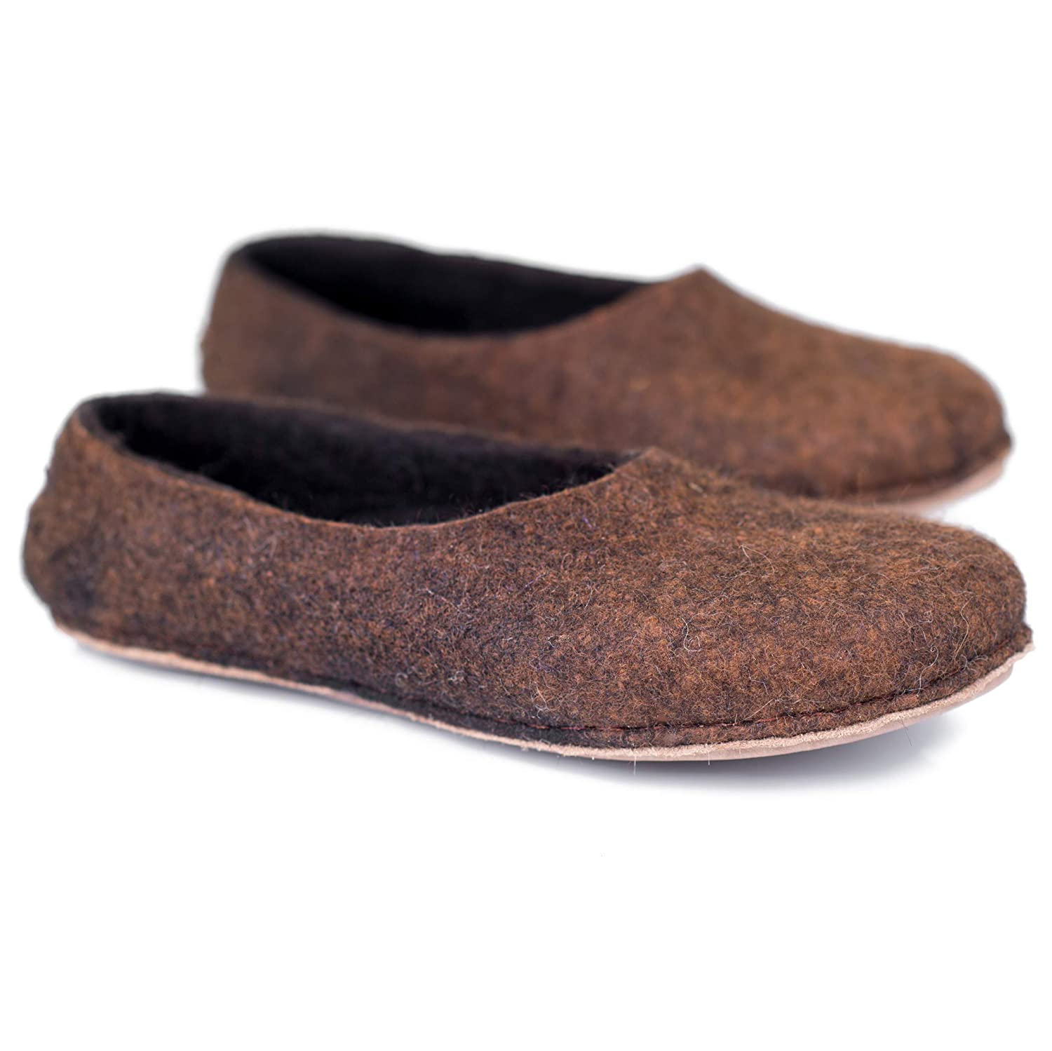 BureBure Classic Long-awaited Mens Slippers Handmade from Felted Max 84% OFF Undye Shoes
