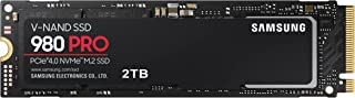 Samsung 980 PRO 2 TB PCIe 4.0 (tot 7.000 MB/s) NVMe M.2 (2280) Interne Solid State Drive (SSD) (MZ-V8P2T0BW)